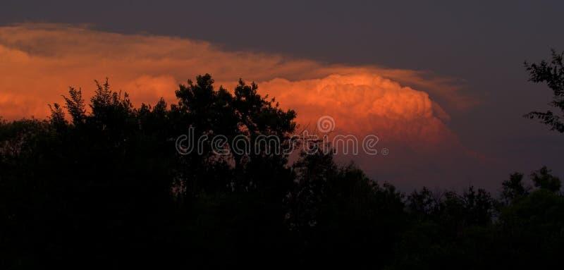 Thunderhead At Sunset Royalty Free Stock Image