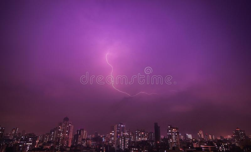 Thundering royalty free stock images