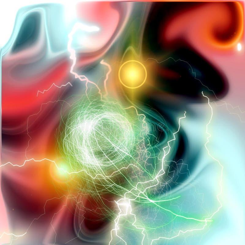Free Thunders And Nebula Background Stock Image - 81932161