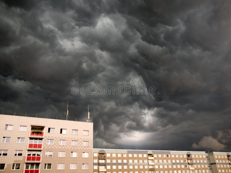 Download Thunderstorm stock photo. Image of city, weather, home - 3933388