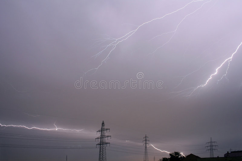 thunderstorm royaltyfri bild