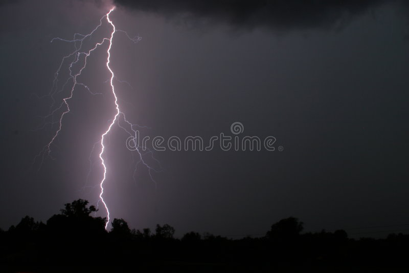Thunderstorm royalty free stock photos
