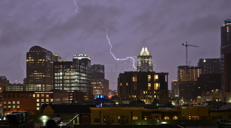 Thunderstorm in Austin Texas royalty free stock images
