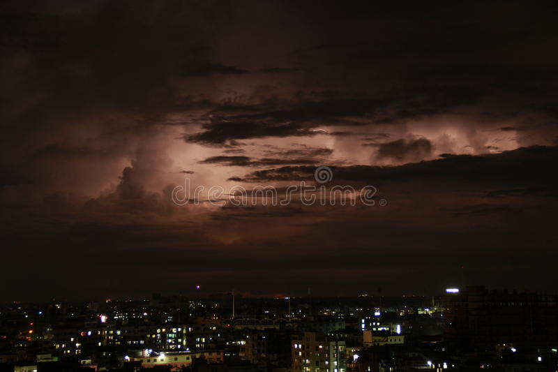 Download Thunderstorm On A City Life Stock Photo - Image: 33194106