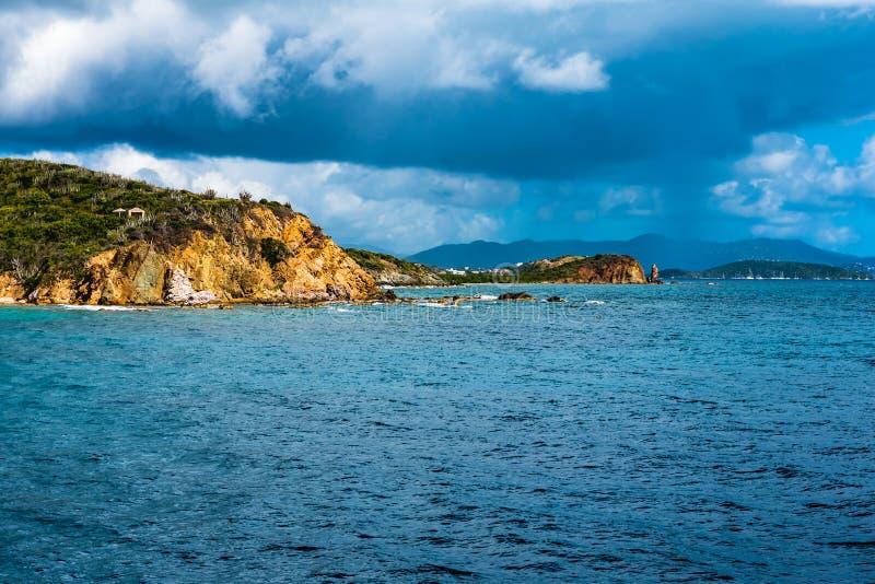 Thunderstorm of the Coast of St. Thomas stock image