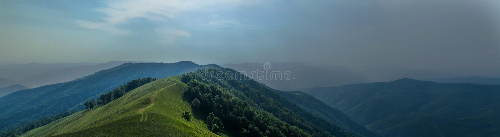 Download Thunderstorm Is Coming Panoram Stock Photo - Image of forest, summer: 55622132
