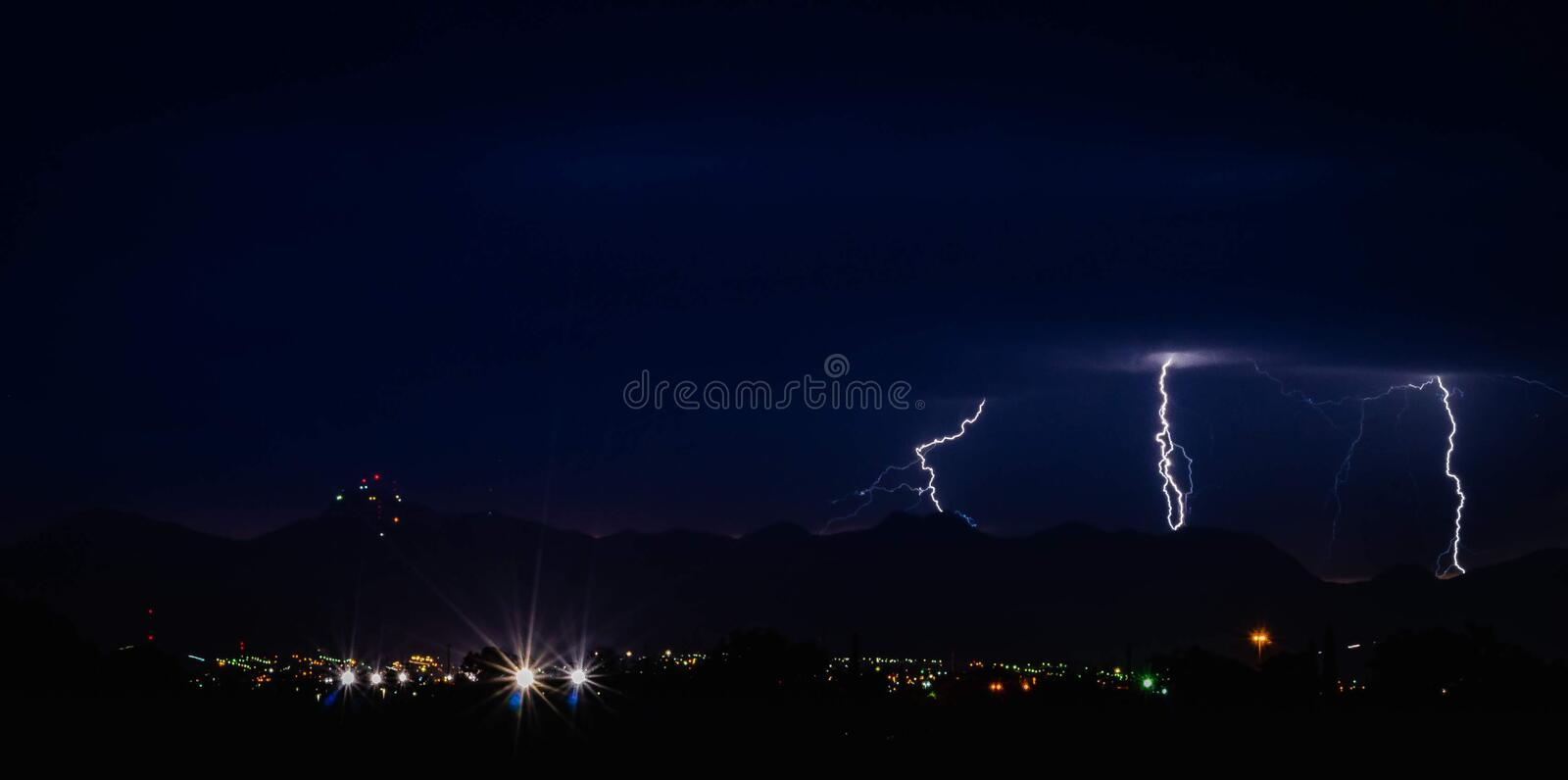 Thunderstorm from El Paso Texas royalty free stock image