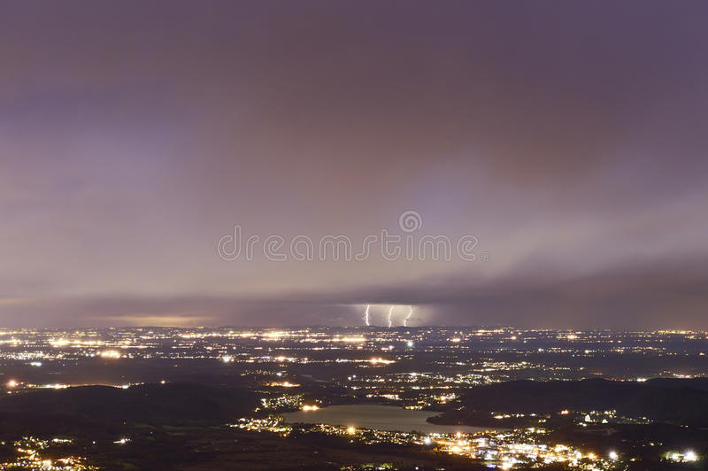 Download Thunderstorm At The Horizon Stock Image - Image: 27410723