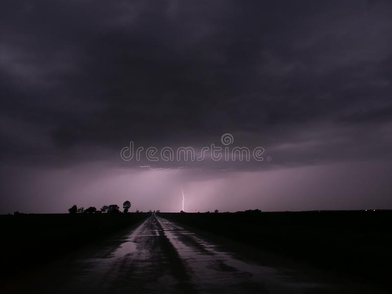 Download Thunderstorm Lightning - Central Illinois Stock Image - Image of powerful, electricity: 16075393
