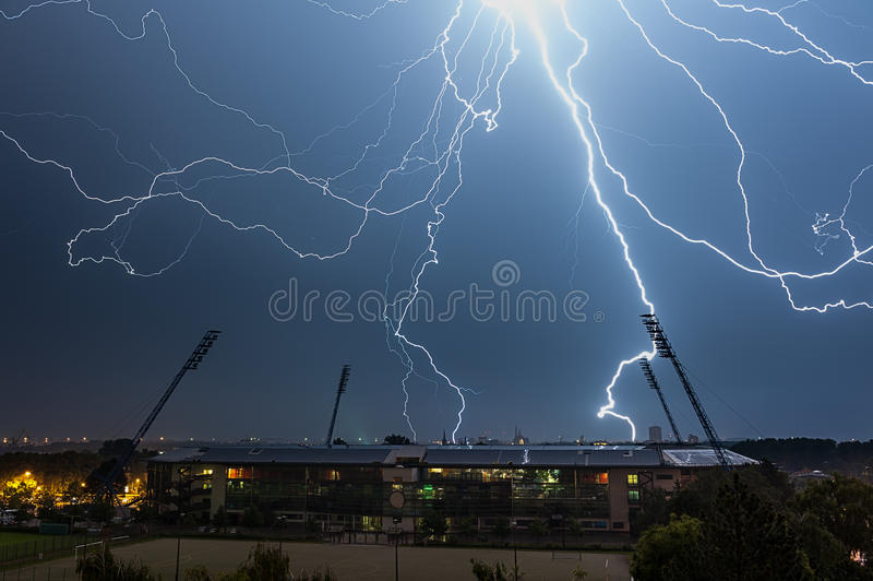 Download Thunderstorm At Night Stock Image - Image: 32055121