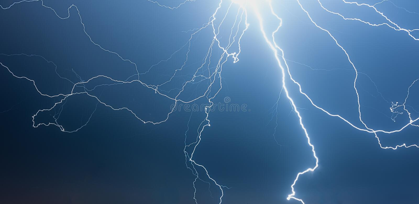 Download Thunderstorm at Night stock image. Image of cloud, blue - 32055107