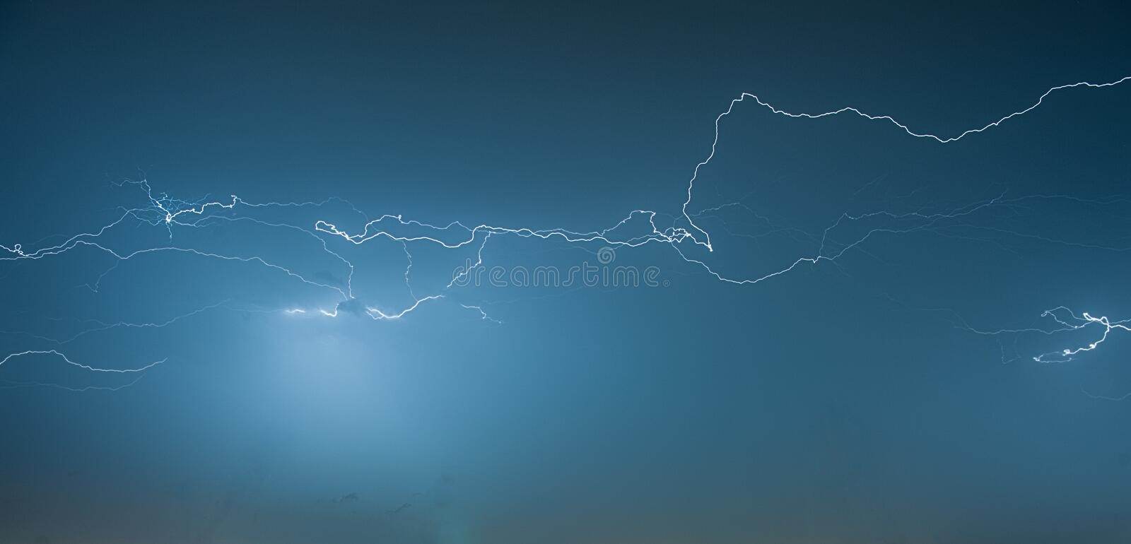 Download Thunderstorm at Night stock photo. Image of soccer, beautiful - 32055134