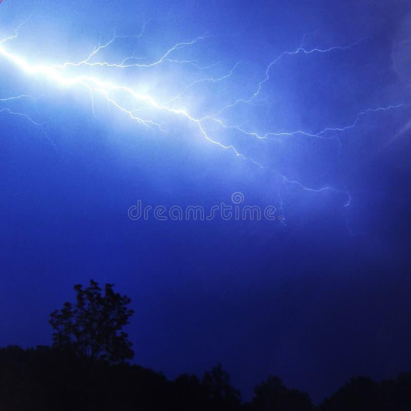 Thunderstorm och blixt arkivfoton