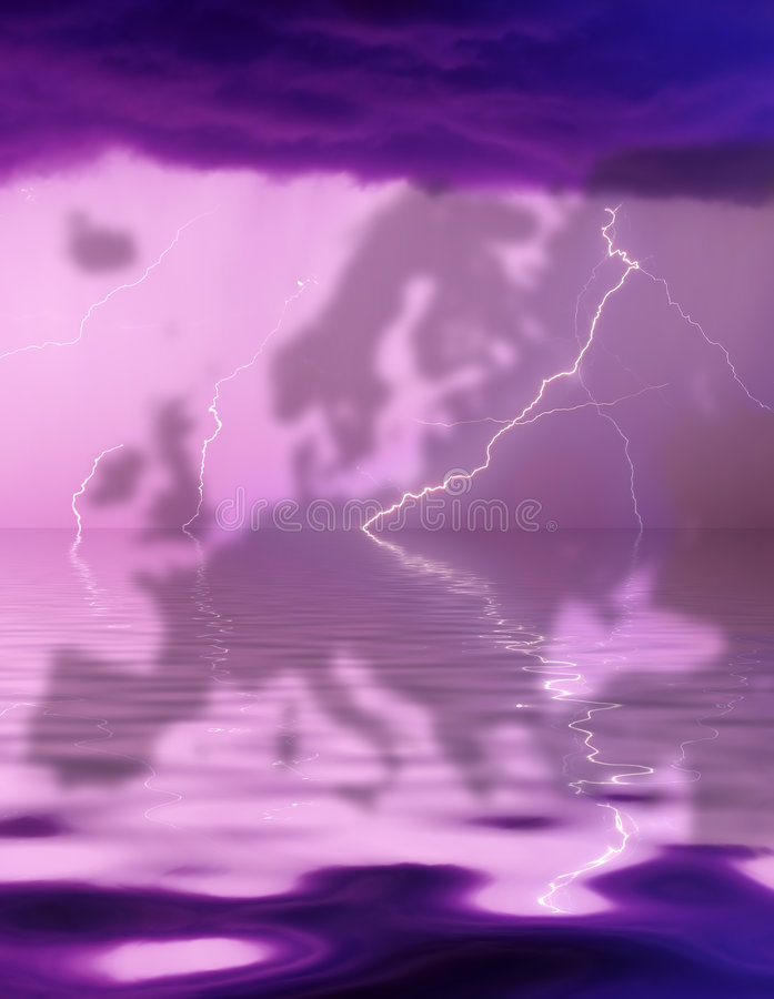 Thunderstorm Over Europe Stock Photography