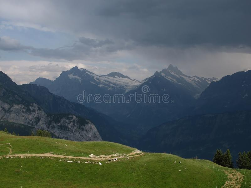 Download Thunderstorm Over Grindelwald Stock Photos - Image: 26400583