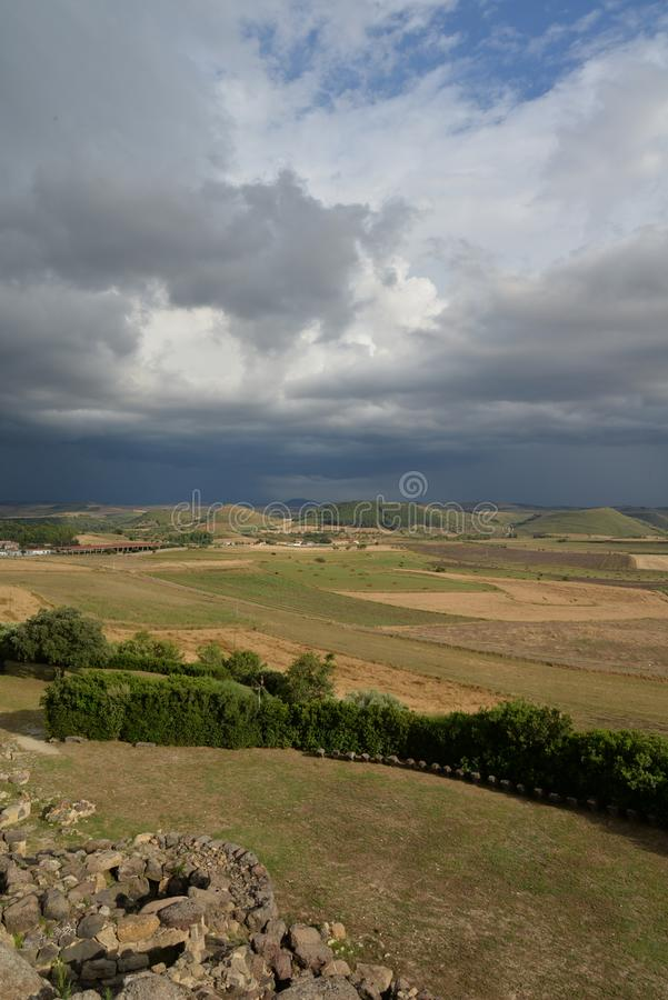 Sardinia, Italy. Rural landscape by dramatic weather royalty free stock photos
