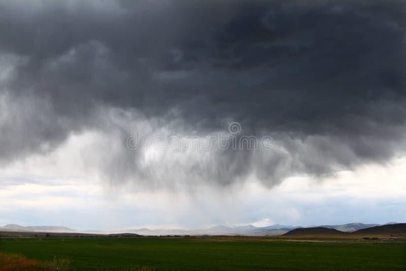 Thunderstorm In Rural Idaho Royalty Free Stock Photo