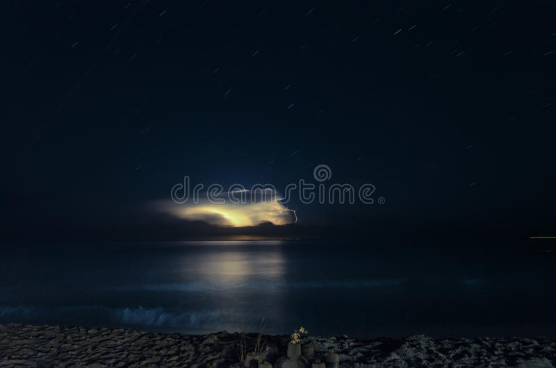 Download Thunderstorm in Sardinia stock photo. Image of stars - 33624252