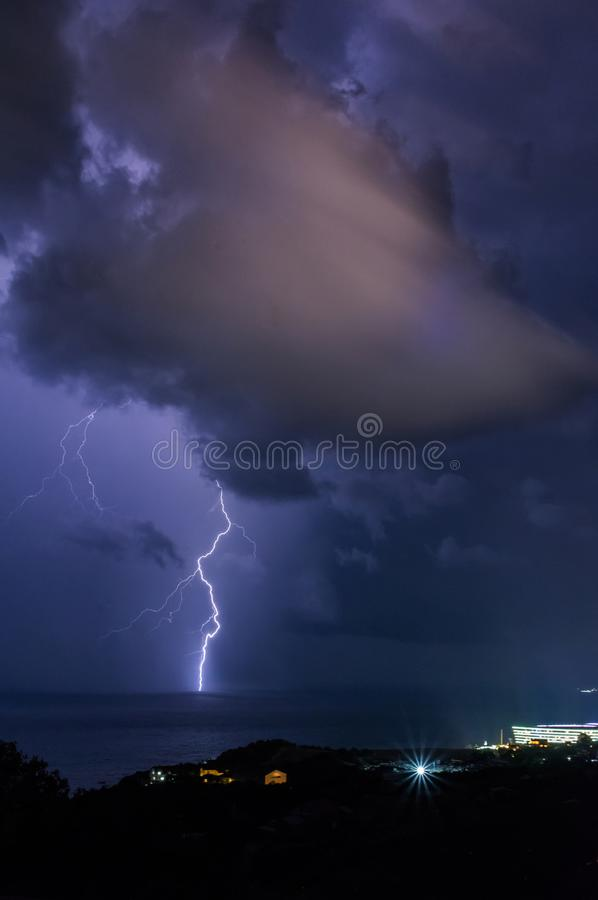 Thunderstorm. Southern coast of the Crimea. royalty free stock photography
