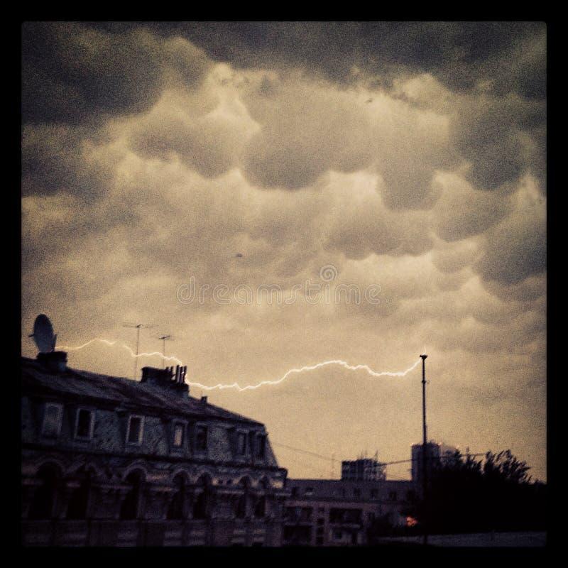 Download Thunderstorm stock image. Image of weather, dusk, mobile - 41923323