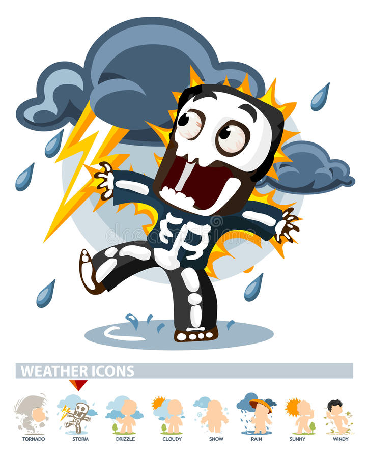 Download Thunderstorm. Weather Icon stock illustration. Image of cloud - 12244754