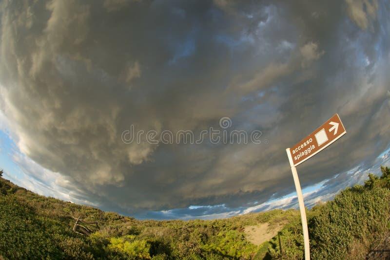 Thundery Fisheye Sky Stock Image