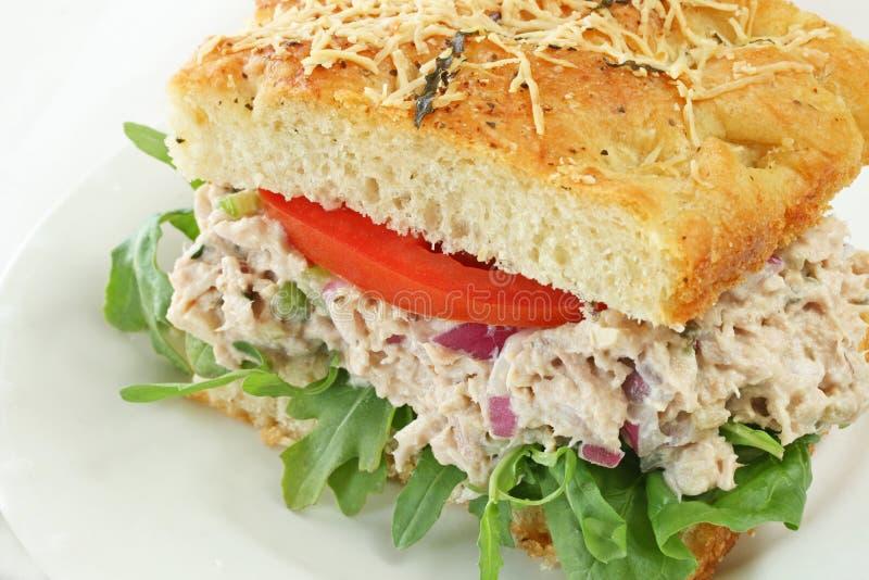 Thunfisch-Salat-Sandwich lizenzfreie stockbilder