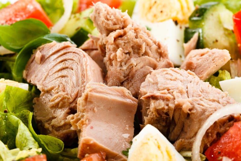Thunfisch- und Gemüsesalat lizenzfreie stockfotografie