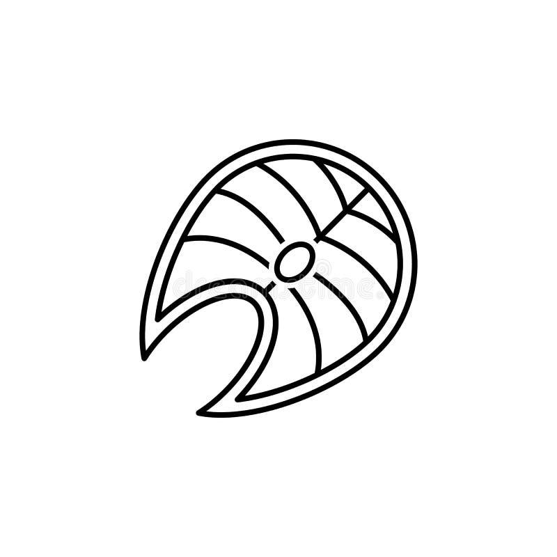Thunfischentwurfsikone Elemente der Diät- und Nahrungsillustrationsikone Zeichen und Symbolsammlungsikone f?r Website, Webdesign, lizenzfreie abbildung