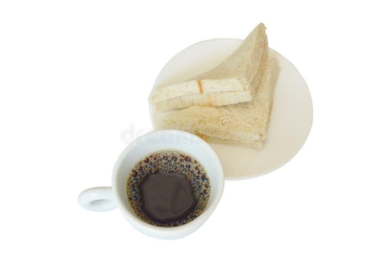 Download Thunfischvollweizensandwich Auf Platte Essen Paare Mit Schwarzer Kaffeetasse Stockbild - Bild von koffein, mahlzeit: 106800441