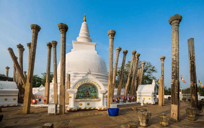 Thuparamaya dagoba stupa,阿努拉德普勒,斯里兰卡 库存图片