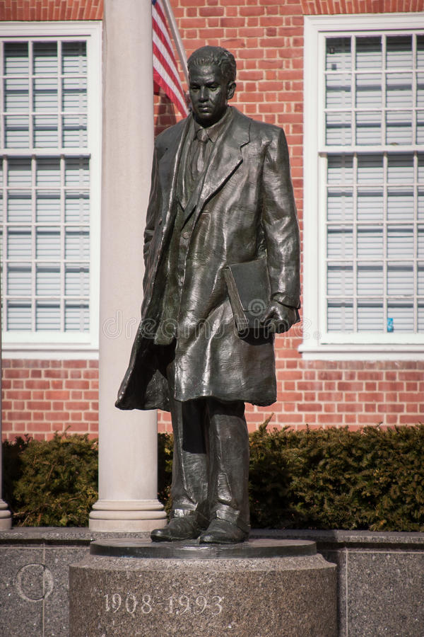 Thurgood Marshall statue, Annapolis, MD stock images