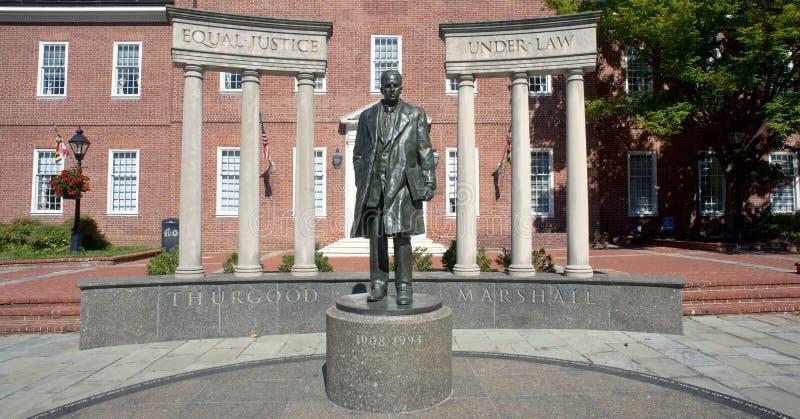 Thurgood Marshall Statue arkivbilder