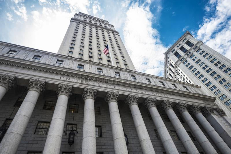 Thurgood Marshall United States Courthouse em New York City, EUA fotografia de stock royalty free