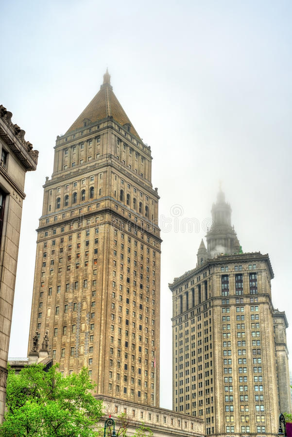 Thurgood Marshall United States Courthouse et bâtiment municipal de Manhattan à New York City photo stock
