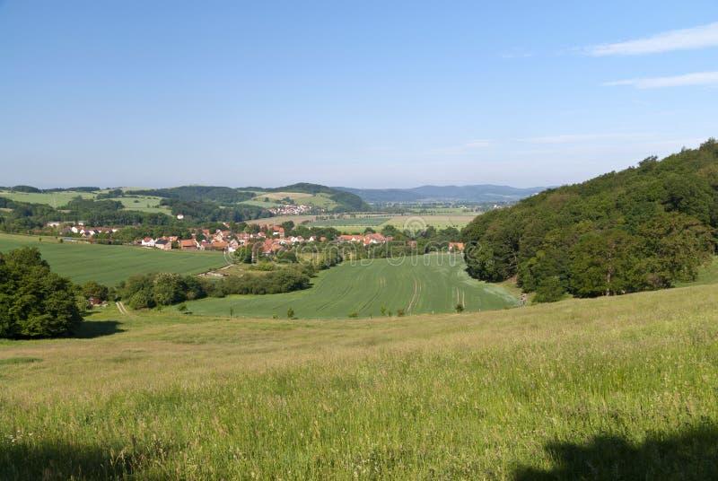 Thuringianlandschap royalty-vrije stock afbeelding