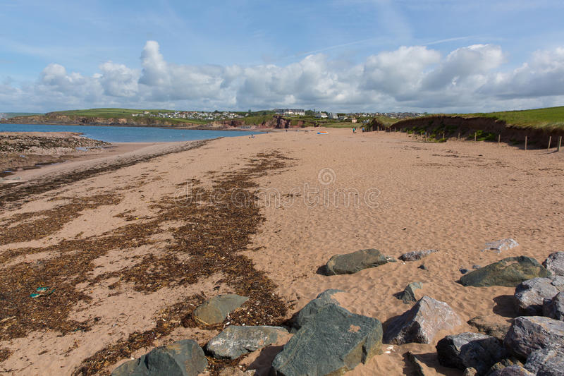Thurlestone strand södra Devon England UK royaltyfri fotografi