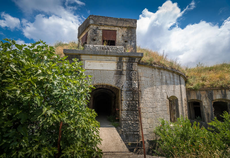 Thurmfort Gorazda fortress main gate. Main gate of Thurmfort Gorazda ancient underground fortress. Montenegro royalty free stock photography