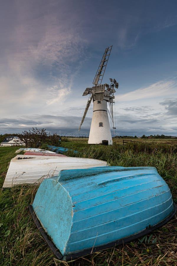 Thurne Windmill, Norfolk royalty-vrije stock afbeelding