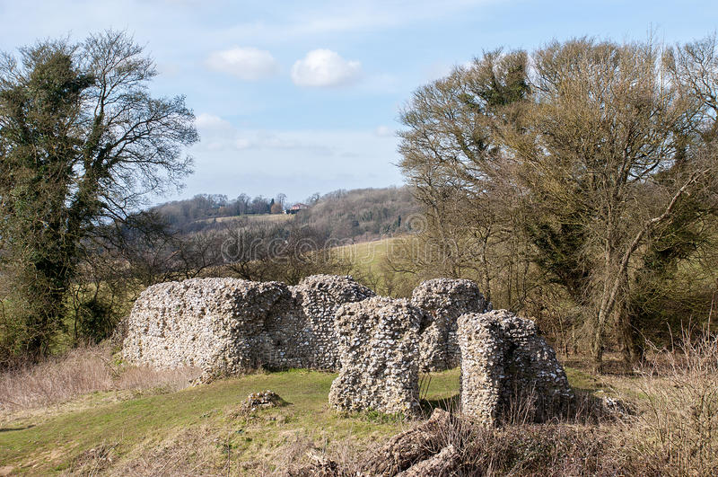 Thurnham城堡 图库摄影