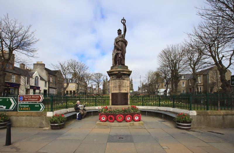 Thurso town center - memorial monument, northern stock photos