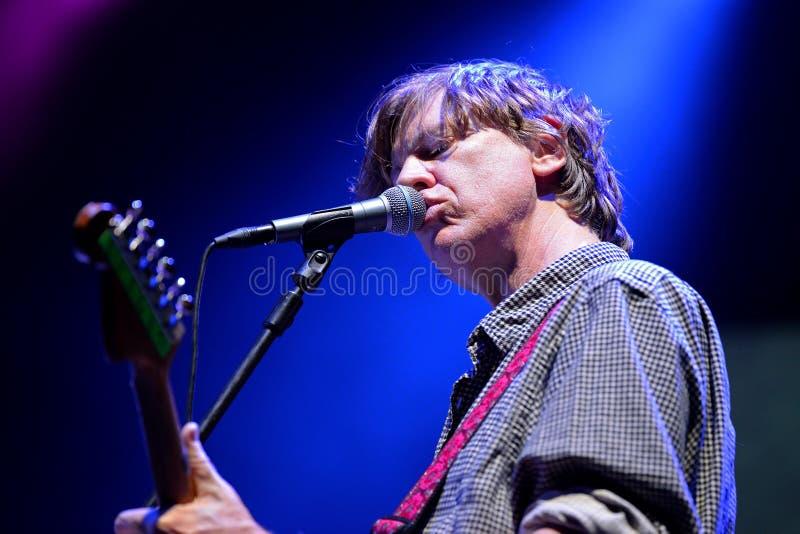 Thurston Moore (musicien le plus connu en tant qu'un chanteur, un compositeur et guitariste de Sonic Youth) photos libres de droits