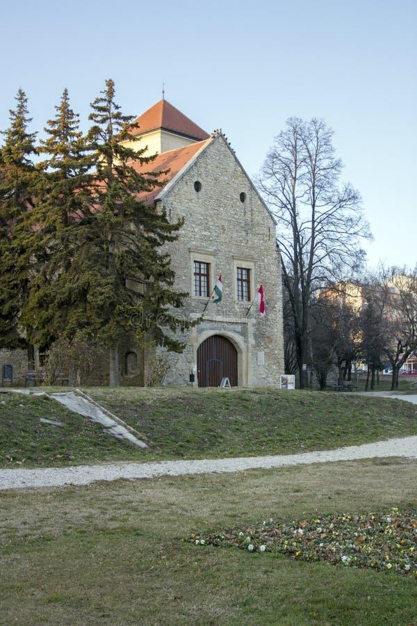 Thury slott i Varpalota fotografering för bildbyråer