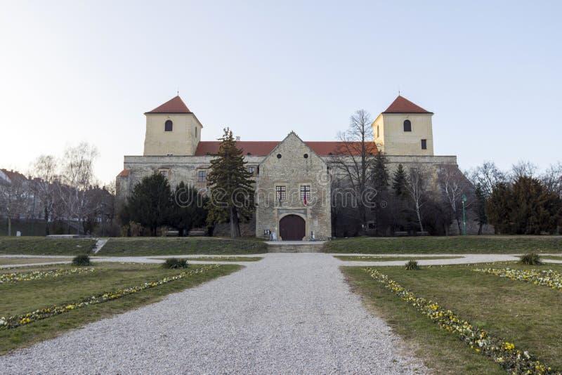 Thury slott i Varpalota royaltyfria foton