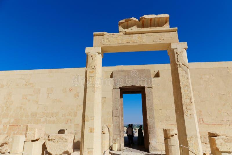 Thutmose au temple de Hatshepsut - Louxor, Egypte photographie stock