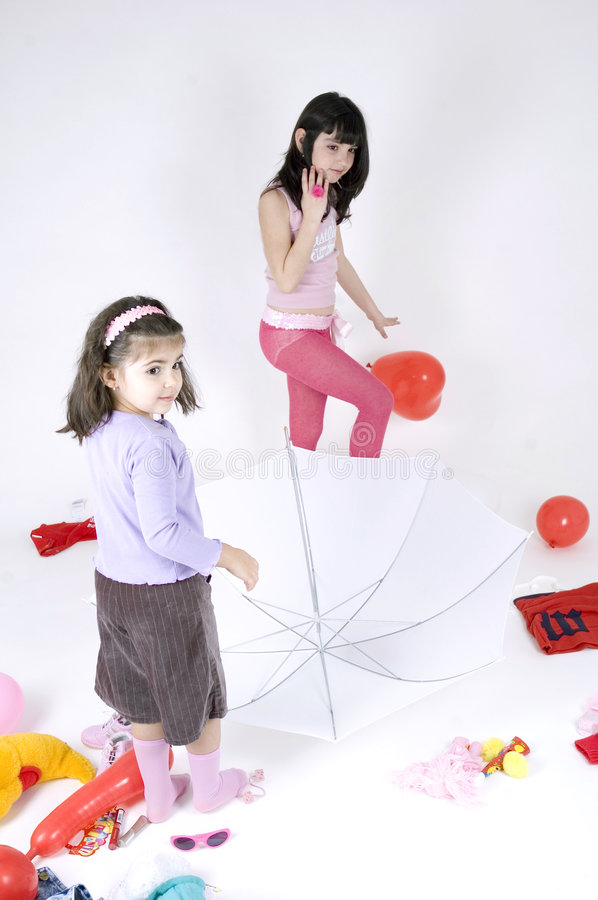 Free Thw Two Of Us And An Umbrella Stock Image - 644201