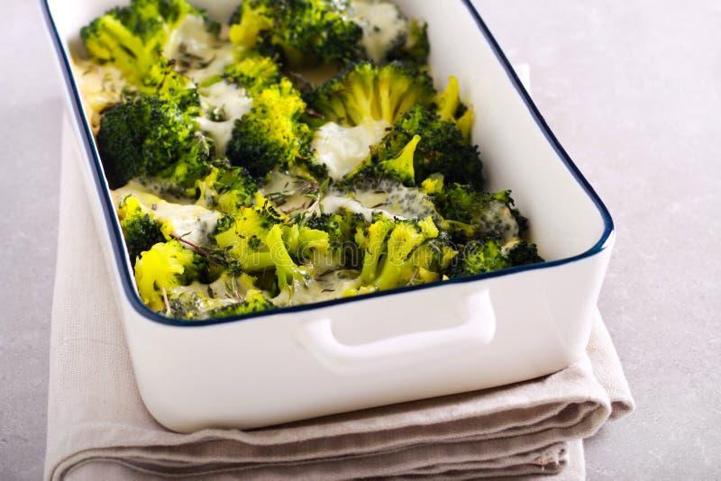 Thymebroccoli met mozarella royalty-vrije stock afbeelding