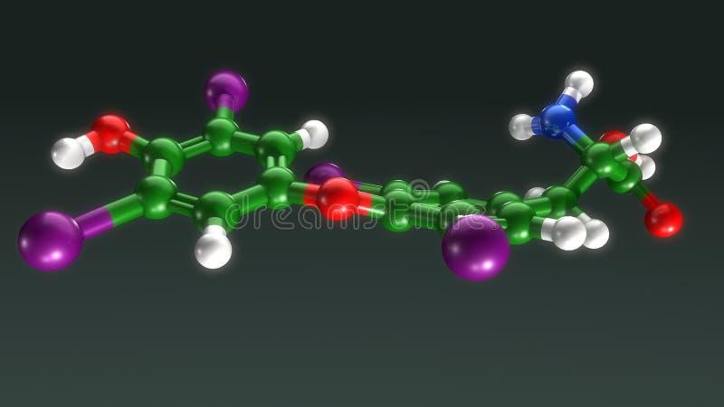 Thyroxinestruktur vektor illustrationer