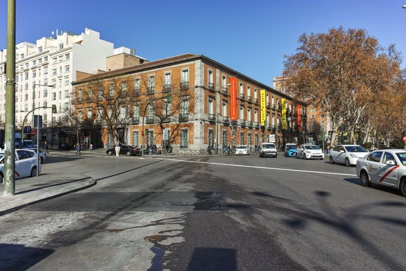 Thyssen Bornemisza muzeum w mieście Madryt fotografia royalty free