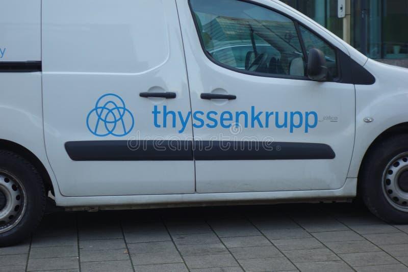 Thyssenkrupp-Logo stockbilder